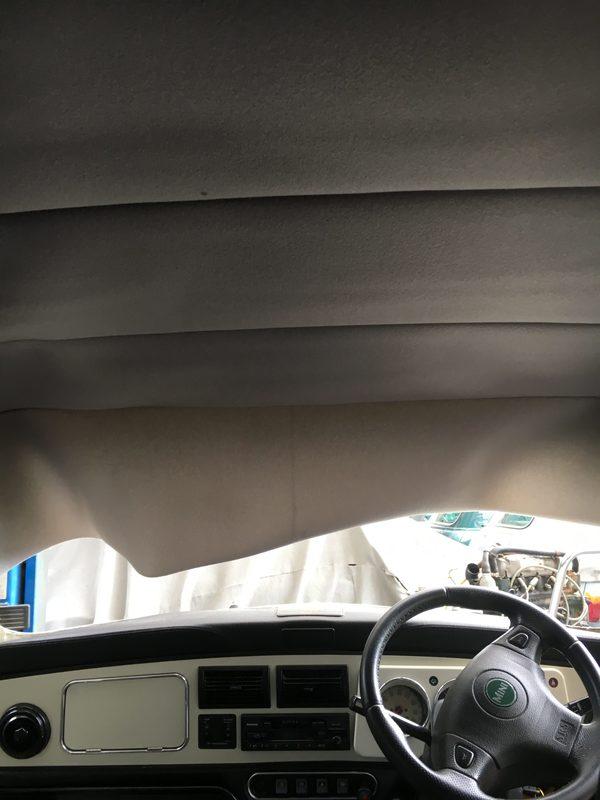 茨城MINI専門店エムズコレクション商品車ポールスミス天井張替進捗板金塗装、内装張替、シート修理!!