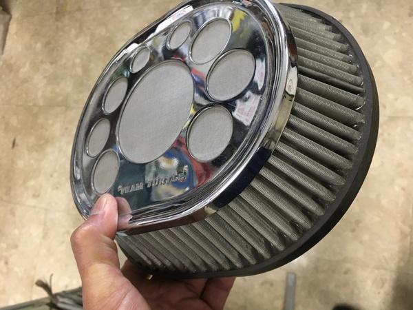 mini専門店エムズコレクション、ミニエアークリーナー、RC40タイプステンレス製マフラー交換、ステディロットクラック溶接修理
