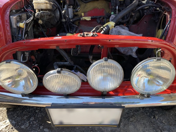 茨城MINI専門店エムズコレクション商品車整備進捗、電装系点検修理、リアバンパー修理ミニ