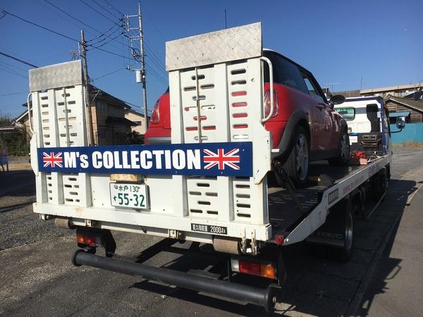 茨城MINI専門店エムズコレクション、レッカー搬送、浜名湖ジャパンミニディ、ハブベアリング&CVジョイント交換修理
