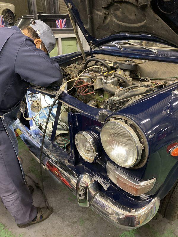 茨城ミニ専門店エムズコレクション バンプラ車検整備、マフラー塗装、ミニ車検修理、ウォルプレスミラー、LEDヘッドライト交換