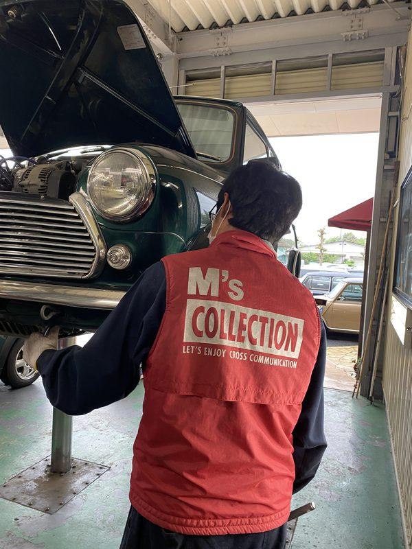 ミニクーパー専門店エムズコレクションローバーミニ 車検整備、ラジオアンテナ交換、純正ホイール修理塗装